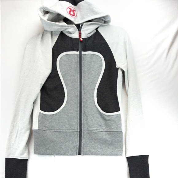 Lululemon shades of grey lightweight zip hoodie